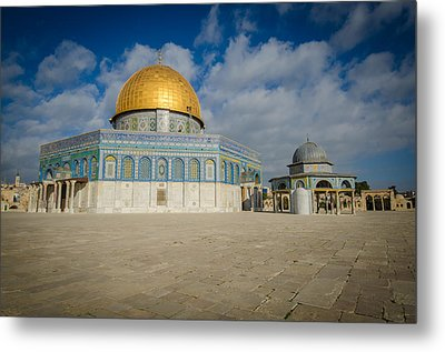 Dome Of The Rock Closeup Metal Print by David Morefield