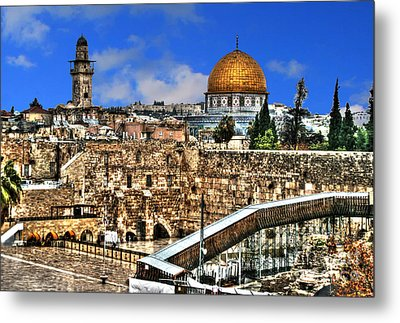 Metal Print featuring the photograph Dome Of The Rock by Doc Braham