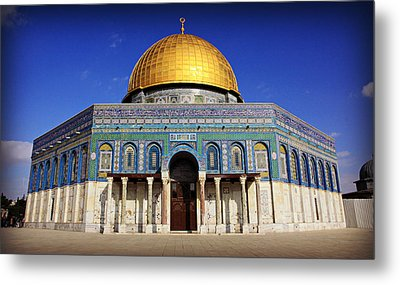 Dome Of The Rock Metal Print by Stephen Stookey