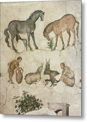 Domestic Animals Mozaic Metal Print by David Parker