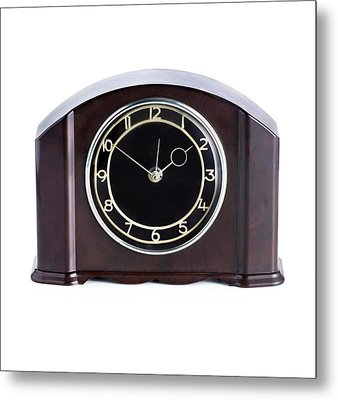 Domestic Clock With A Bakelite Housing Metal Print by Science Photo Library