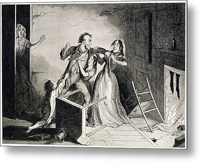 Domestic Violence Metal Print by British Library