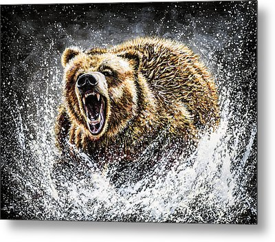 Dominance Metal Print by Teshia Art