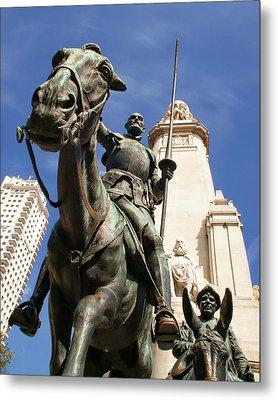 Don Quixote De La Mancha And His Trusty Squire Sancho Panza Metal Print