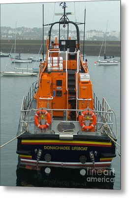 Donaghadee Rescue Lifeboat Metal Print by Brenda Brown