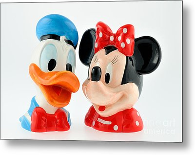Donald Duck And Minnie Mouse Metal Print by George Atsametakis