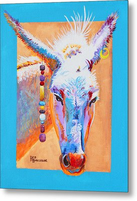 Jack's Other Girl - Burro - Donkey Metal Print by Deb  Harclerode