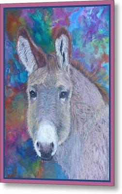 Donkey Face Metal Print
