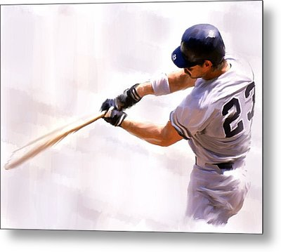 Donnie Ballgame Don Mattingly  Metal Print by Iconic Images Art Gallery David Pucciarelli