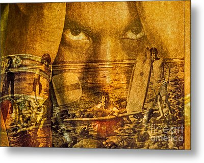 Don't Be Afraid Of The Surf Metal Print by Michael Cinnamond