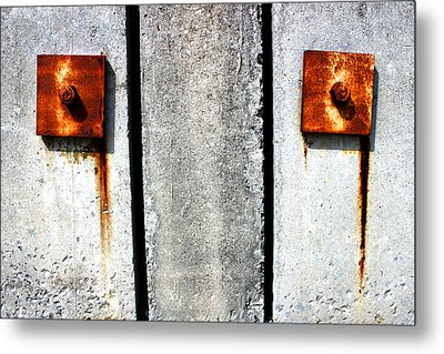 Don't Cry For Me Industrial Decay Series No 006 Metal Print