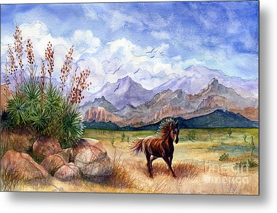 Don't Fence Me In Metal Print by Marilyn Smith