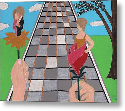 Metal Print featuring the painting Don't Get Strung Out by Barbara St Jean