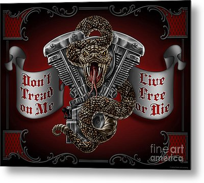 Don't Tread On Me Metal Print by JQ Licensing
