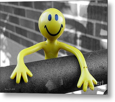 Metal Print featuring the photograph Don't Worry Be Happy by Nina Silver