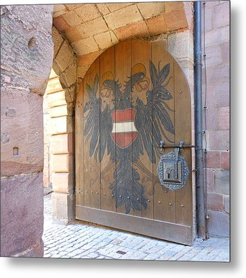 Metal Print featuring the photograph Door At Nuremberg by Kay Gilley