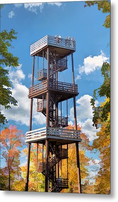 Door County Eagle Tower Peninsula State Park Metal Print by Christopher Arndt