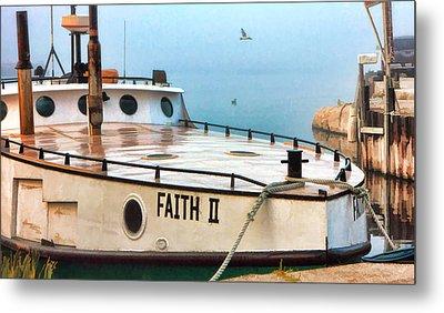 Door County Gills Rock Faith II Fishing Trawler Metal Print by Christopher Arndt