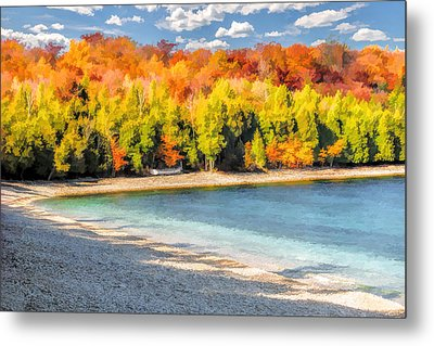Door County Washington Island School House Beach Metal Print by Christopher Arndt