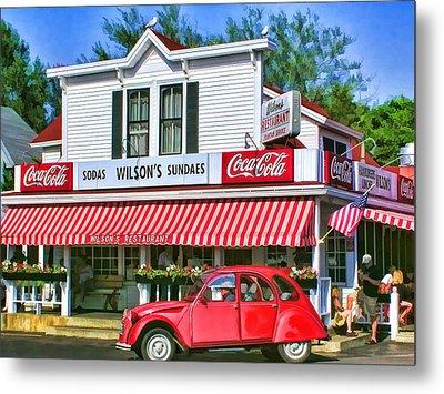 Door County Wilson's Restaurant And Ice Cream Parlor Metal Print by Christopher Arndt