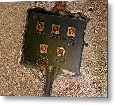 Door Entry Buzzers Metal Print