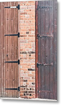 Door Hinges Metal Print