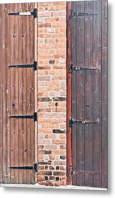 Door Hinges Metal Print by Tom Gowanlock