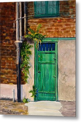 Door In New Orleans Metal Print by Dan Redmon