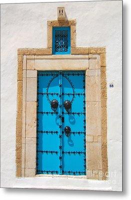 Door In Tunisia Metal Print by Eszter Kovacs