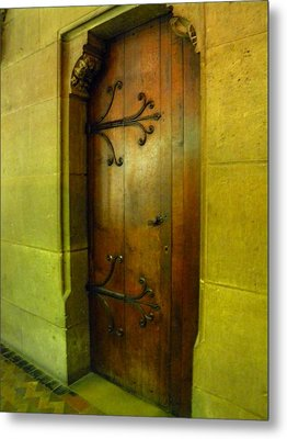 Door Inside Notre Dame Paris Metal Print