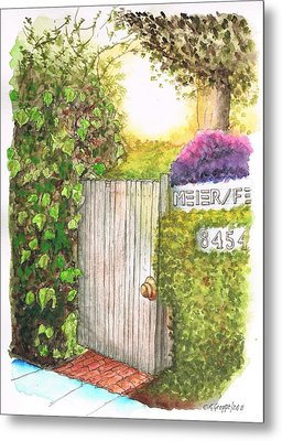 Meir Studio Door In Melrose Place, Los Angeles, California Metal Print