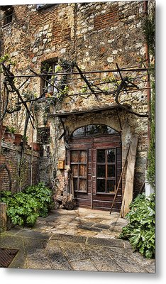 Metal Print featuring the photograph Door Montepulciano Italy by Hugh Smith