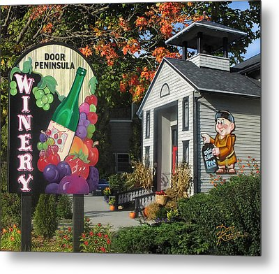 Door Peninsula Winery Metal Print by Doug Kreuger