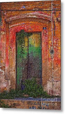 Metal Print featuring the photograph Door Series - Green by Susan Parish