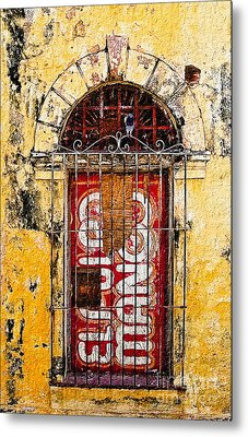 Metal Print featuring the photograph Door Series - Yellow by Susan Parish