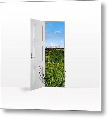 Door To Nature Metal Print by Aged Pixel