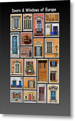 Doors And Windows Of Europe Metal Print by David Letts