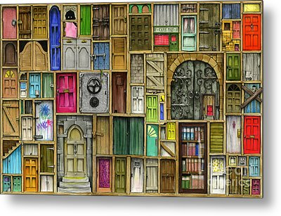Doors Closed Metal Print by Colin Thompson