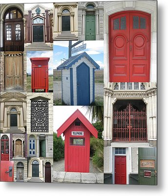 doors in New Zealand Metal Print by Cathy Jacobs
