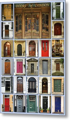Doors Of London Metal Print by Heidi Hermes