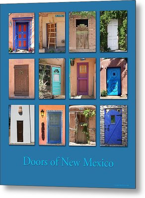 Doors Of New Mexico Metal Print by Heidi Hermes