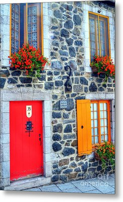 Doors Of Quebec 2 Metal Print by Mel Steinhauer