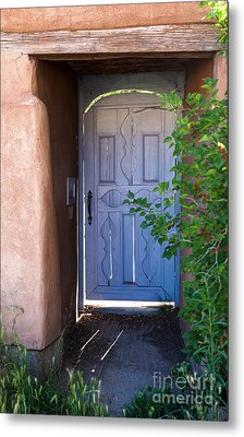 Metal Print featuring the photograph Doors Of Santa Fe by Roselynne Broussard