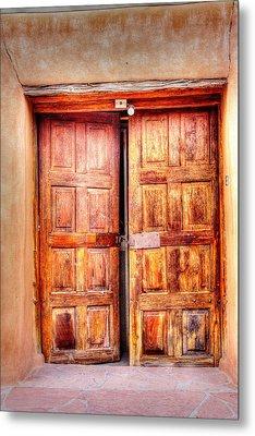 Doors To The Inner Santuario De Chimayo Metal Print by Lanita Williams