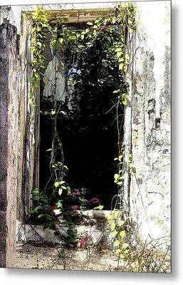 Doorway Delights Metal Print