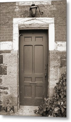 Metal Print featuring the photograph Doorway In Sepia by Brooke T Ryan