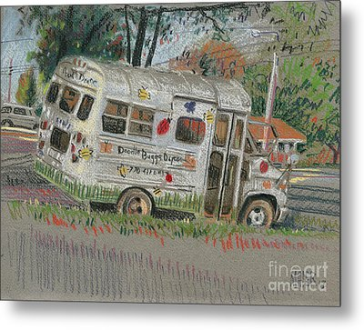Metal Print featuring the painting Doodlebugs Bus by Donald Maier