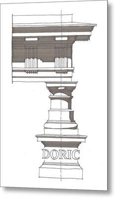 Doric Order Metal Print by Calvin Durham