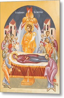 Dormition Of The Theotokos Metal Print by Julia Bridget Hayes