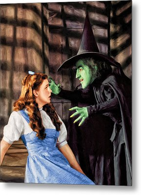 Dorothy And The Wicked Witch Metal Print
